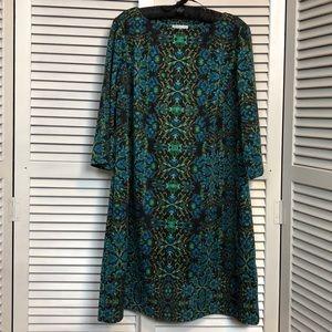 EUC London Times 3/4 Sleeve Knit Dress-Sz 14W